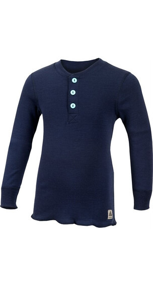 Aclima Kid's Warmwool Granddad Shirt Peacoat